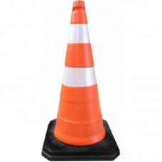 Cone em PVC 75cm Base Borracha