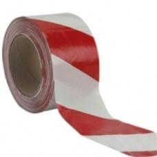 Fita Zebrada Vermelha e Branca